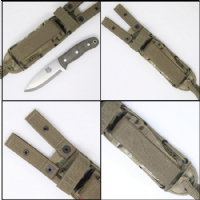 TBS Grizzly Bushcraft Survival Knife - Military Model - Spec Ops Package